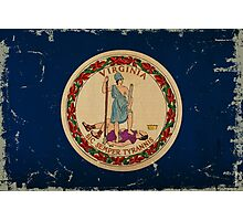 Virginia State Flag VINTAGE Photographic Print