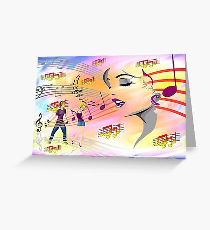 Happy Sounds Greeting Card