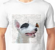 English Bull Terrier & Butterfly Unisex T-Shirt