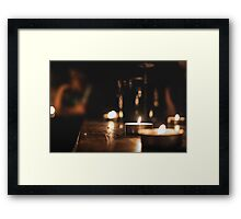 Candlelight peace Framed Print