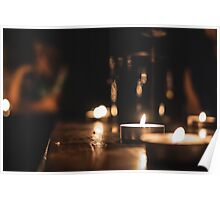 Candlelight peace Poster