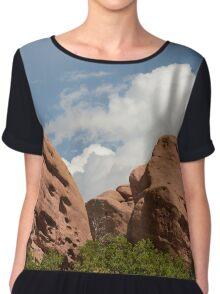 Red Rocks Park Colorado Landscape Chiffon Top