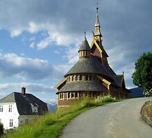 St. Olaf church - Balestrand - Norway by Arie Koene