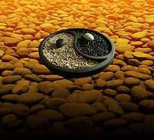 Yinyang Series - Orange by Keith Richardson