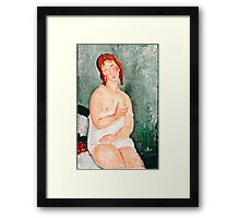 Amedeo Modigliani - Young Woman in a Shirt, 1918 (1918)  Framed Print