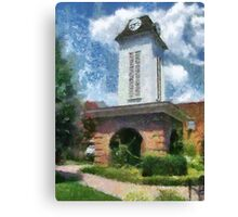 Clock Tower on the Square in Downtown Franklin Canvas Print