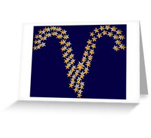 Aries star sign Greeting Card