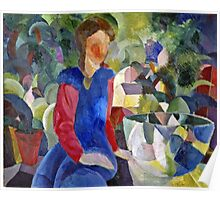 August Macke - Woman With Fishbowl  Poster