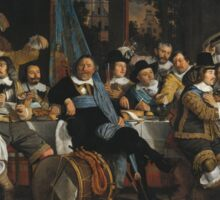Bartholomeus Van Der Helst - Banquet Of The Amsterdam Civic Guard In Celebration Of The Peace Of Munster Sticker