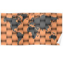 3D world map composition Poster