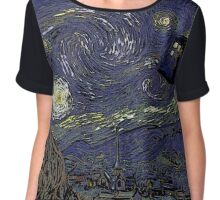 Tardis starry night Chiffon Top