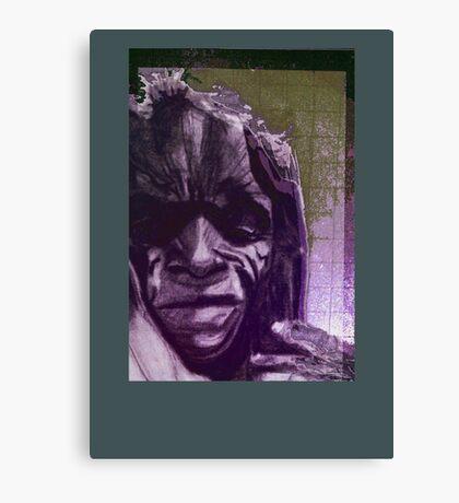 poor woman Canvas Print