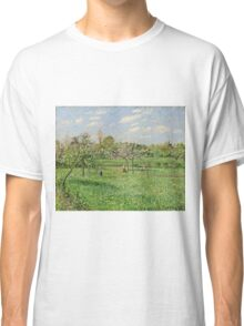 Camille Pissarro - Spring, Morning, Cloudy, Eragny (1900)  Classic T-Shirt