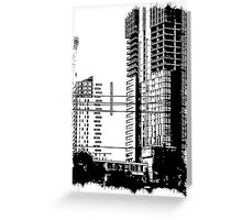 Skyscraper Under Construction Greeting Card