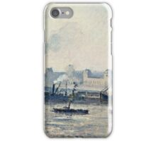 Camille Pissarro - The Saint Sever Bridge, Rouen Mist (1896)  iPhone Case/Skin