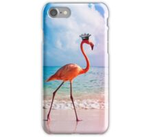 crowned flamingo iPhone Case/Skin