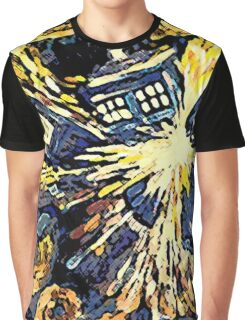 Exploding Tardis Graphic T-Shirt