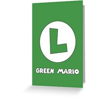 Green Mario (Luigi). Greeting Card