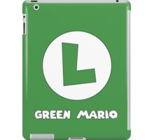 Green Mario (Luigi). iPad Case/Skin