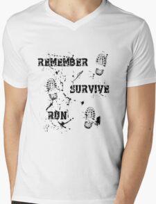 Remember, Survive, Run. Maze Runner Mens V-Neck T-Shirt