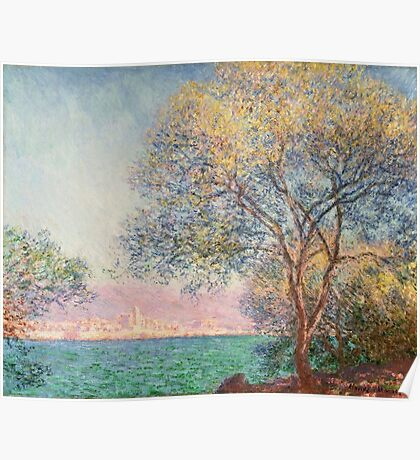 Claude Monet - Antibes In The Morning  Poster
