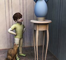 The egg (version with little boy) by Roberta Angiolani