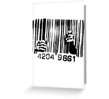 Barcode t-shirt Greeting Card