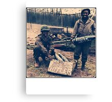 Happy Easter Hitler. Soldiers Vintage photo Canvas Print