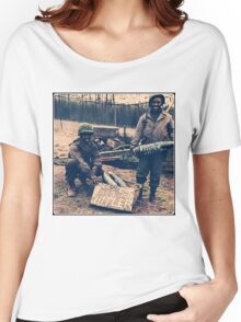 Happy Easter Hitler. Soldiers Vintage photo Women's Relaxed Fit T-Shirt