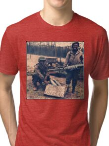 Happy Easter Hitler. Soldiers Vintage photo Tri-blend T-Shirt