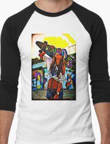 Longboard Girl  Men's Baseball ¾ T-Shirt