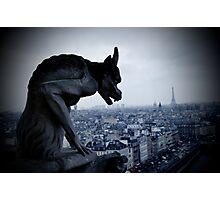 Lonely Gargoyle Photographic Print