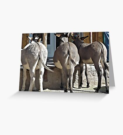 No Ifs Ands Or Butts Greeting Card