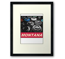 Montana Spray t-shirt Framed Print