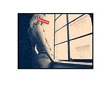 Sexy tattoo girl Supreme Photographic Print