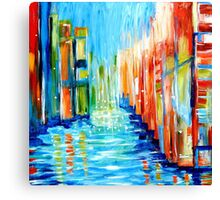Urban City View Canvas Print