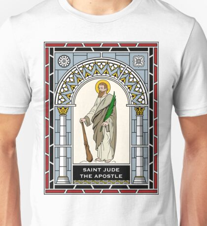 ST JUDE under STAINED GLASS Unisex T-Shirt