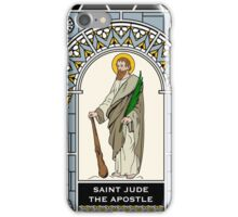ST JUDE under STAINED GLASS iPhone Case/Skin