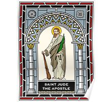 ST JUDE under STAINED GLASS Poster