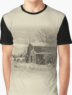 The barn - sepia Graphic T-Shirt