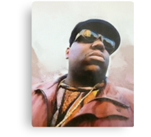 Biggie Smalls Notorious Rapp Autumn Dream Wrap Metal Print