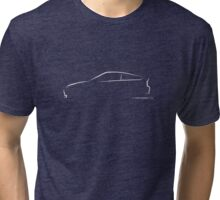 Profile Silhouette Honda CRX - white Tri-blend T-Shirt