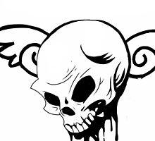 Heaven Skull Sketch by Hobotube