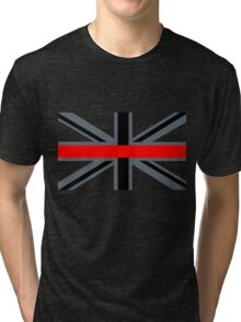 Firefighters Red Line Union Jack Tri-blend T-Shirt