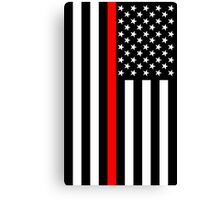 Firefighters Red Line US Flag Canvas Print