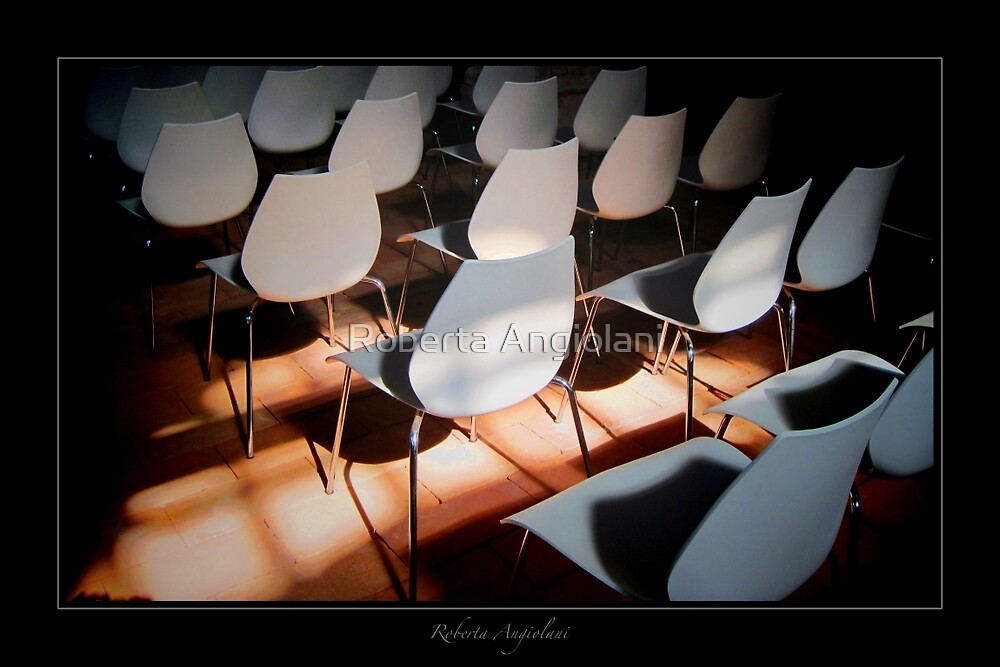 Chairs in strange context by Roberta Angiolani