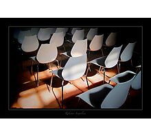 Chairs in strange context Photographic Print