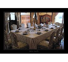 Dining at Villa Queen Margherita Photographic Print