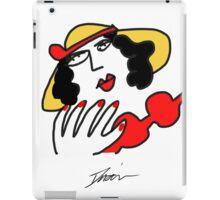 Doña con sombrero iPad Case/Skin