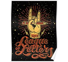 League of Letters Poster